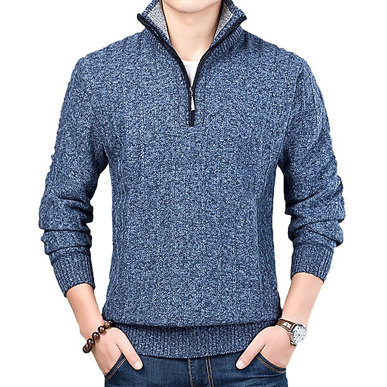 New Winter Men's Sweater Casual Pullover Mens Warm Sweaters Man Slim Stand