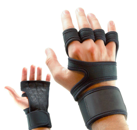 Gym Fitness Gloves Hand Palm Protector with Wrist Wrap Support Crossfit Workout