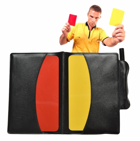 Soccer Referee Red Yellow Card Pencil Sports Notebook Personalized Sport Match S