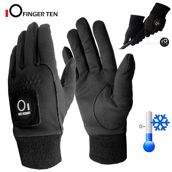1 Pair Winter Cold Weather Warm Golf Gloves Men With Ball Marker Grip Windproof