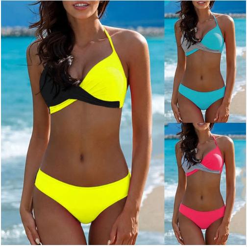 Sexy Bikini Push Up Swimwear Women biquinis feminino  mujer Swimsuit tanga S