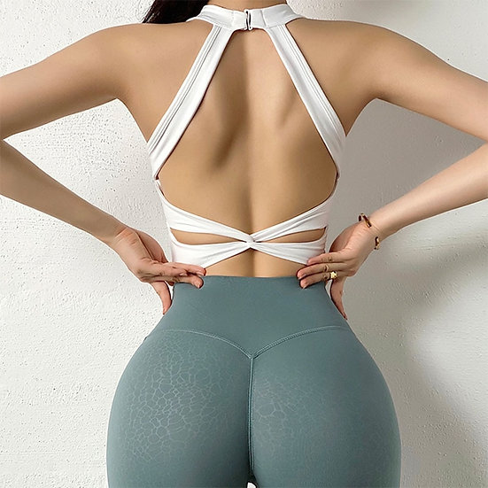 Women Sports Bra Sexy Mesh Breathable Yoga Top Push Up Female Gym Fitness Sport