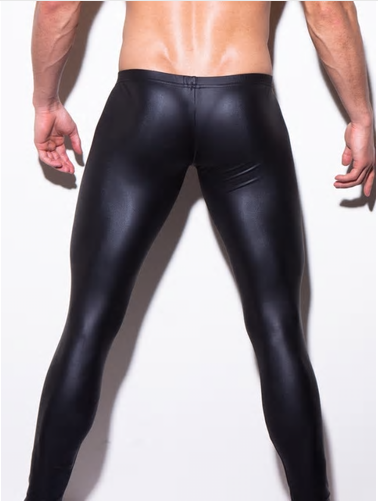 Sexy Men Low-rise U Bulge Pouch Night Club Stage Performance Tights Bodywear Pan