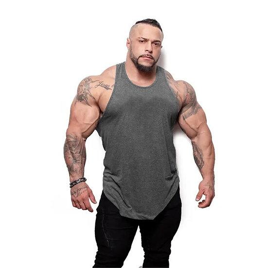 New Summer Bodybuilding Cotton Tank Tops Gyms Fitness Vest Male Sleeveless Sling