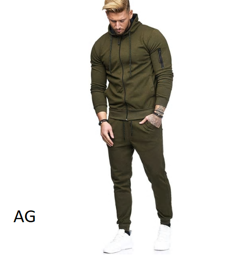 Men's Sets Fashion Sportswear Tracksuits Sets Men's Hoodies+Pants casual Ou