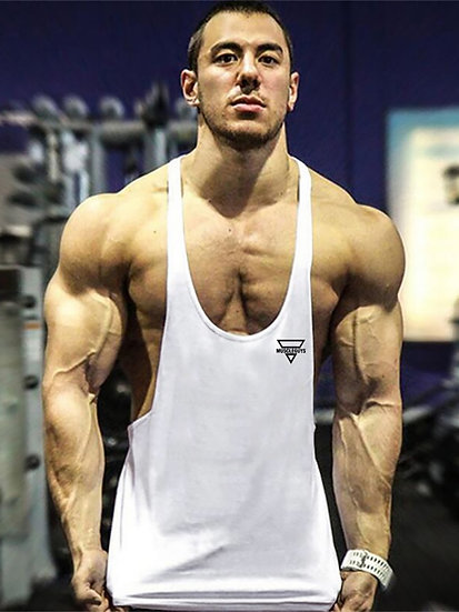 Brand Gym Mens Tank Top Clothing Bodybuilding Singlets Fitness Vest Muscle