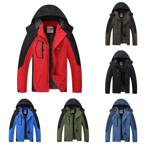 2018 New Men Thicken Running Jacket Autumn Winter Hooded Windproof Sport Coat Pl