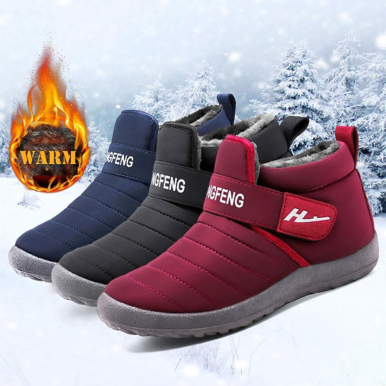 Lovers Shoes New Winter Women Shoes Snow Boots Loafers Warm Fur Ankle Boots Shoe
