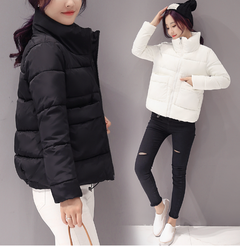 2018 Jacket Women Winter Fashion Warm Thick Solid Short Style Cotton padded Park