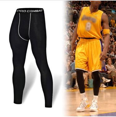 Men's basketball tights sports leggings pants running fitness elastic compressio