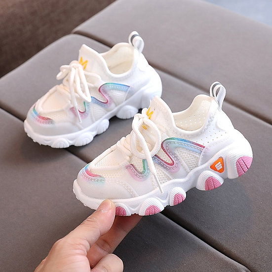 2020 Breathable Toddler Boy Sneakers Stretch Fabric Fashionable Baby Running
