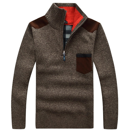 New Winter Mens Pullover Knitted Sweater Male Wool Fleece Thick Casual Pullover