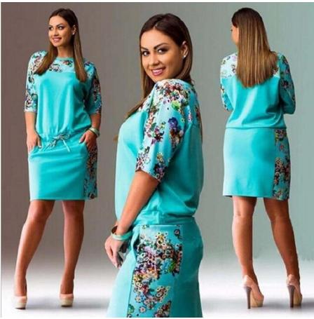 Plus size dresses for women 4xl 5xl 6xl new fashion dresses summer 2020 round ne