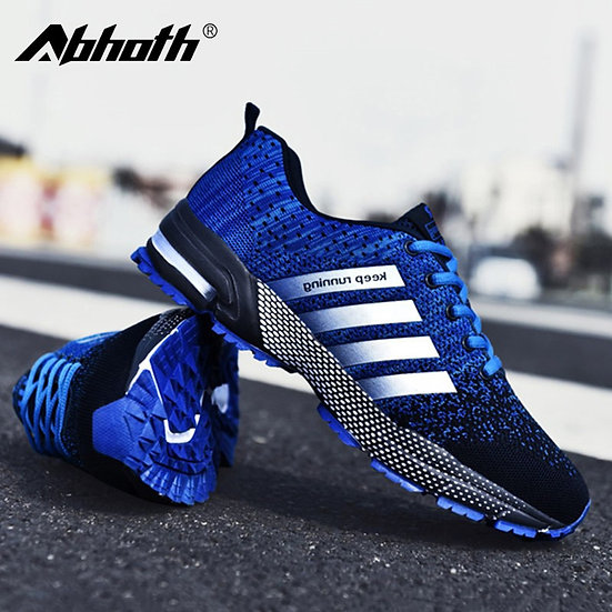 Abhoth Men's Mesh Breathable Casual Shoes Non-Slip Stable Shock Absorption Light