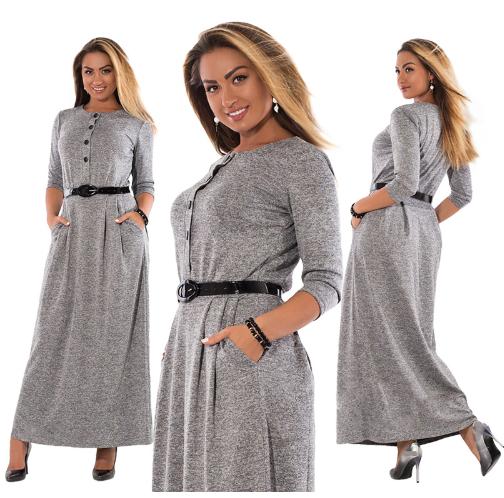 3XL Autumn Winter Dress Big Size Elegant Long Sleeve Maxi Dress Women Office Wor