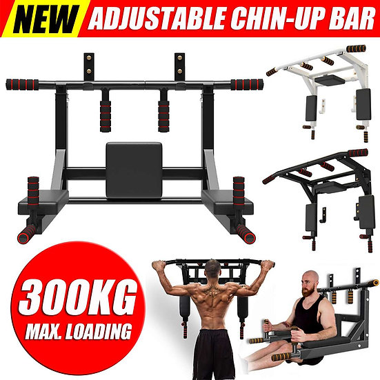 NEW Multi Wall Mounted Pull Up Bar Dip Station Loading 300 KG Chin Up Bar Fitnes