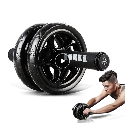 Muscle Exercise Equipment Home Fitness Equipment Double Wheel Abdominal Powe