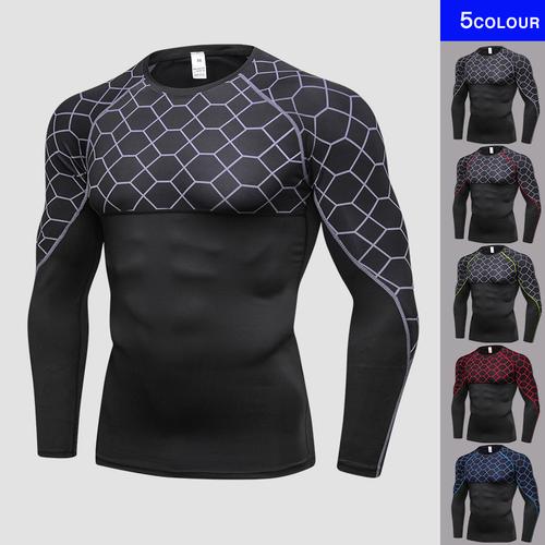 2018 Oringinal Design Men Compression Fitness Tight Sport Shirt Gym Clothing