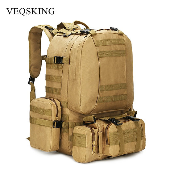 50L Tactical Backpack,Men's Military Backpack,4 in 1Molle Sport Tactical Bag,