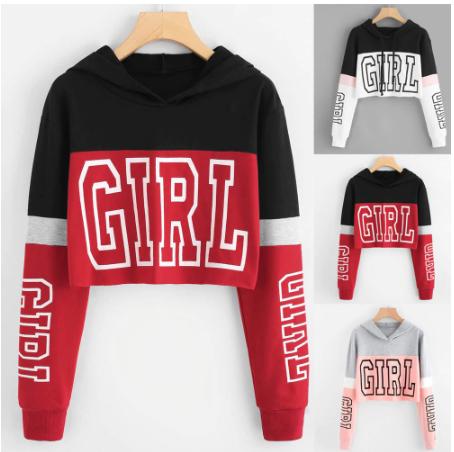 Women Printing Long Sleeve Hoodie Sweatshirt Hooded Pullover Tops Blouse Maglia