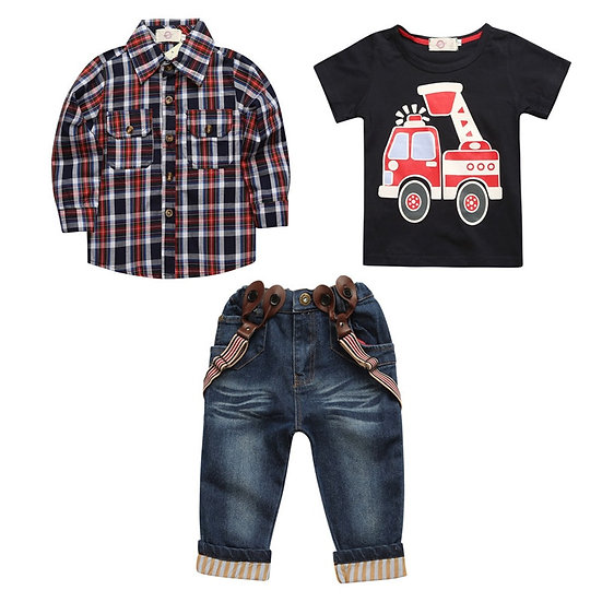 LZH Children Clothing 2020 Autumn Toddler Boys Clothes Outfit 2 3 4 5 6 7 Year