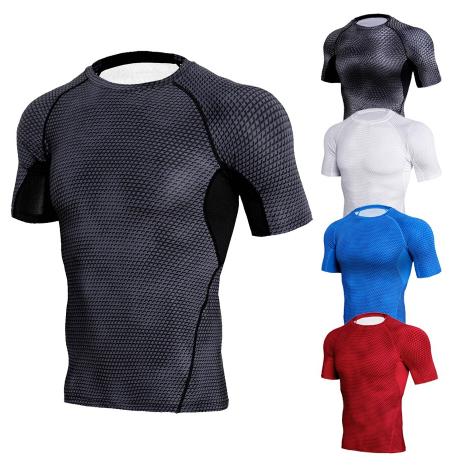 new summer gym t shirt big-type shirt man bodybuilding fitness quick dry short s