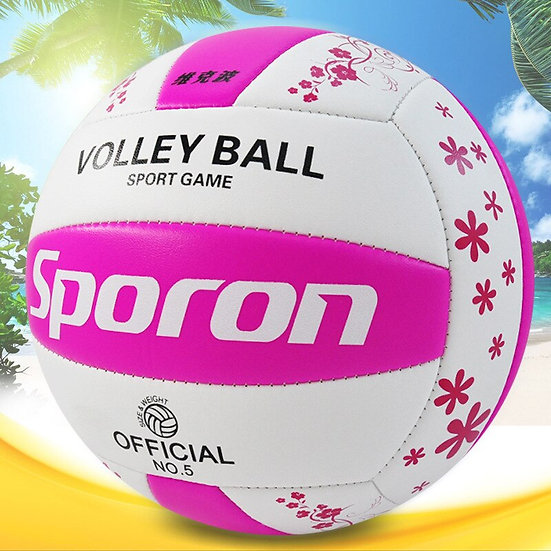 One Piece PVC Soft Volleyball Professional Training Competition Ball 5#