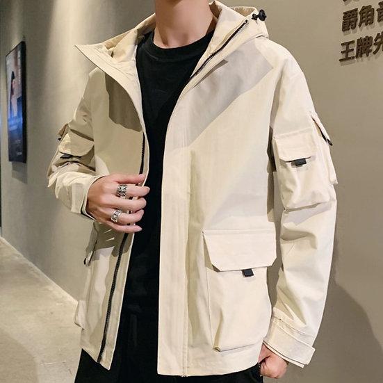 Spring Autumn Casual Jacket Men Hooded Windbreaker Coat Man Jackets Outerwear