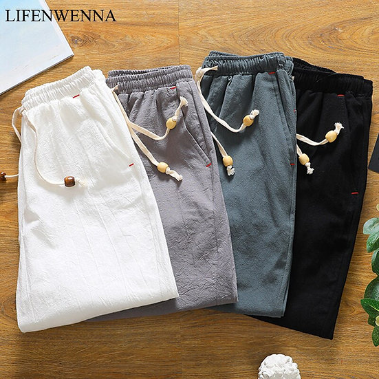 Summer Solid Cotton Shorts Men 2020 New Fashion Loose Comfortable and Breathable