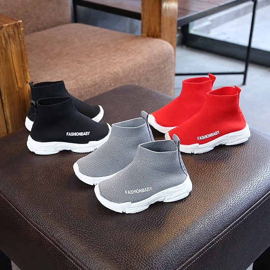 Autumn Winter Kids Sneakers Children Casual Shoes Slip-On Breathable Kids Socks