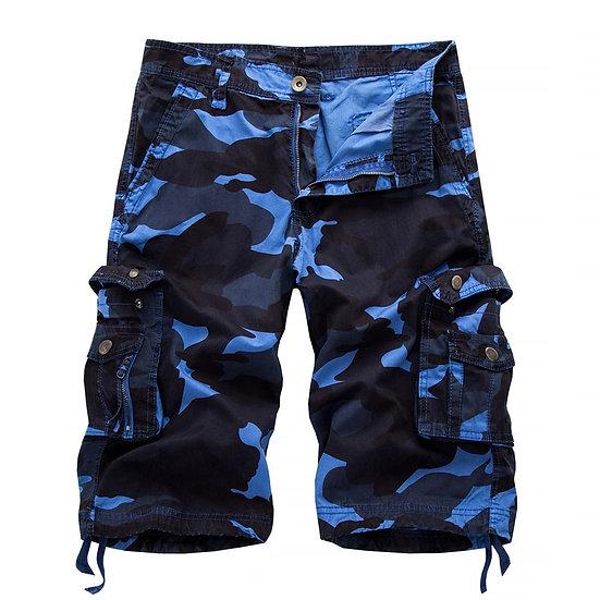 2020 Military Camo Cargo Shorts Summer Fashion Camouflagelti-Pocket Homme