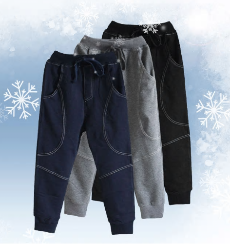 Winter Teenage Boys Warm Thick Pants Cotton Pockets Kids Sports Fleece Lined Pan