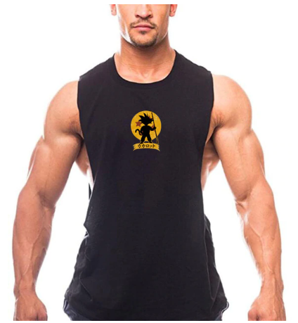 Bodybuilding Cartoon Tank Tops Men Anime shirt Cute Goku Vest Fitness Drop Armho
