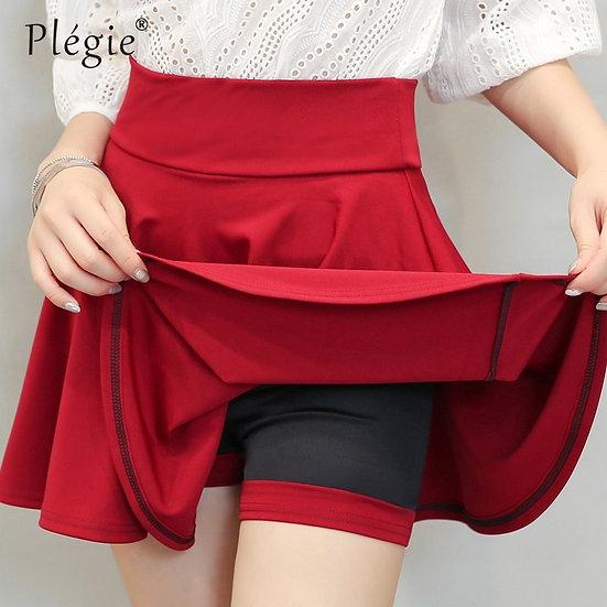 Plegie Plus Size 4XL Shorts Skirts Womens 2020 Summer a Line Sun School High
