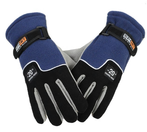 Outdoor Winter Sports Warm Fleece Full Finger Gloves Hunting Breathable Cycling