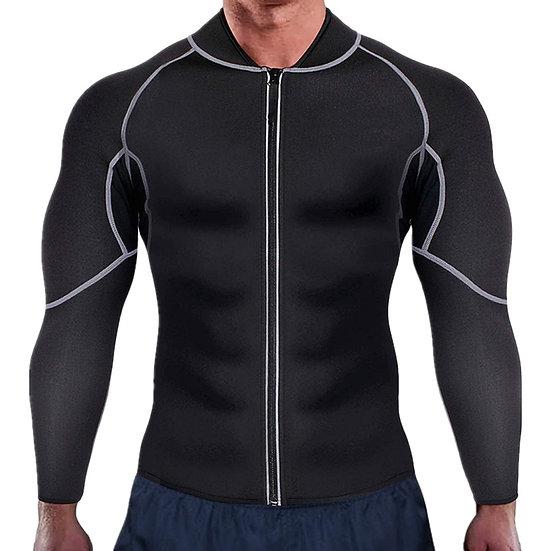 New Men Waist Trainer Vest for Weight Loss Neoprene Corset Body Shaper Zipper