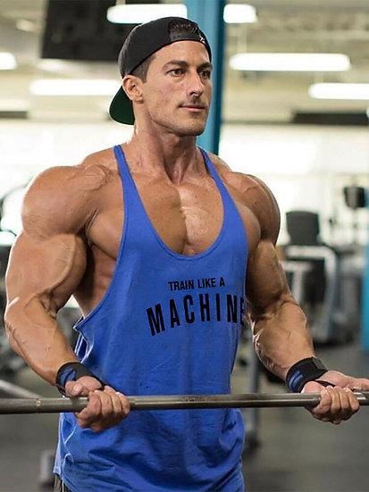 Gym Mens Tank Top Vest Muscle Fashion Sleeveless Stringer Brand Back Clothing
