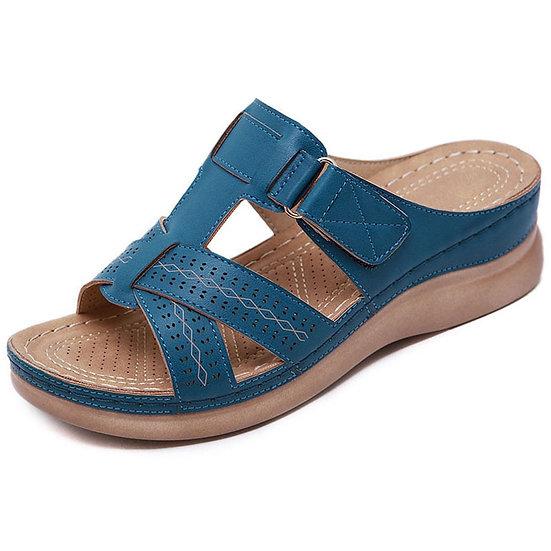 Summer Women Wedge Sandals Premium Orthopedic Open Toe Sandals Vintage Anti-Slip