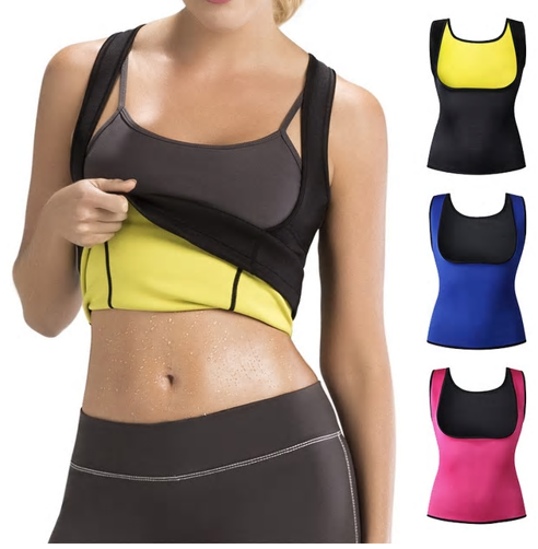 Sports Fitness Cami Vest Hot Exercise Shapers Tops Training Sweat Sleeveless Shi