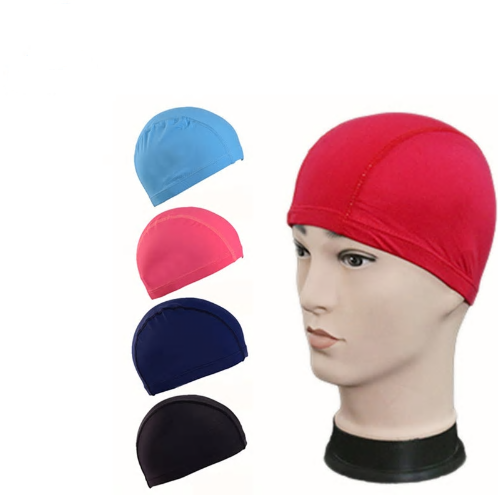 New Elastic Waterproof PU Swimming Hat Caps Long Hair Summer Water Sports S