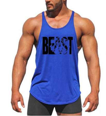 Fashion Workout Sports Shirt Fitness Top Men Gym Tank Top Clothing Mens Bodybuil