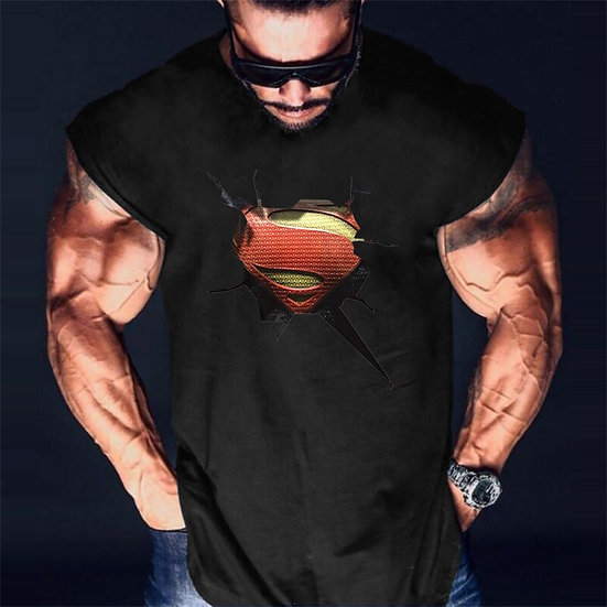 Brand 3D Printed Body Building Clothing Mens Fitness Tank Tops Male Summer