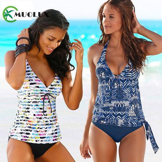 2020 Bikini Brazilian Black Push Up Padded Swimwear Women Beach Tankini 2 Piece