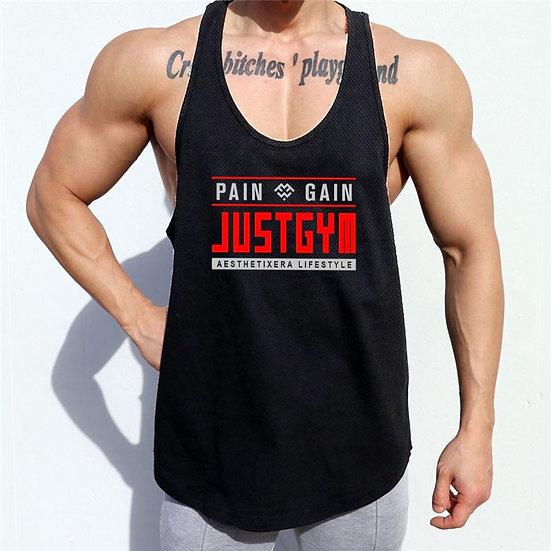 Running Vest Summer Mesh Quick Dry Bodybuilding Stringer Tank Top Mens Fitness