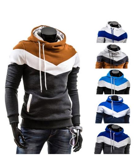 Winter Man Hoodie Sweatshirt Slim Fit Hooded Pullover Hip Hop Jacket Hoody Sport