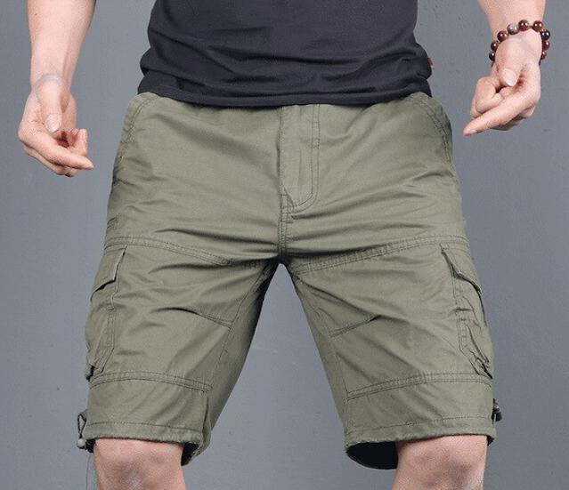 Men's Casual Shorts Summer Straight Streetwear Military Cargo Shorts bermuda mas