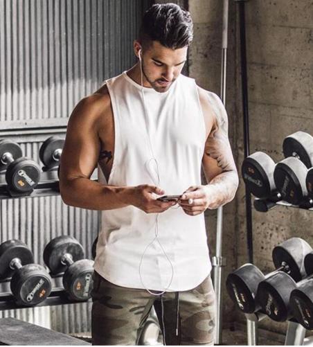 Brand Gyms Stringer Clothing Bodybuilding Tank Top Men Fitness Singlet Sleeveles