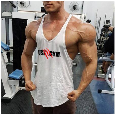 Summer Mens Just Gyms Tank Top Bodybuilding Cotton Sleeveless Brand Fitness Vest