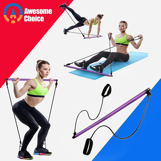 Yoga Resistance Bands Pilates Stick Bodybuilding Crossfit Gym Rubber Tube Elasti
