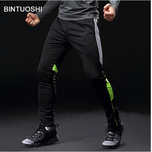 BINTUOSHI Soccer Training Pants Men With Pocket Football Trousers Jogging Fitnes